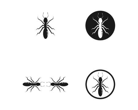 Ant icon template vector illustration design