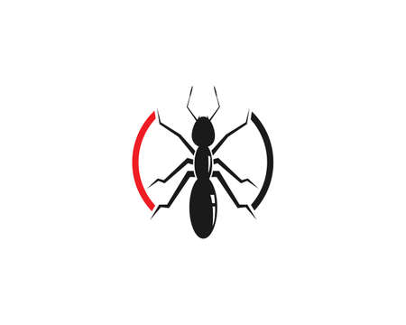Ant icon template vector illustration design