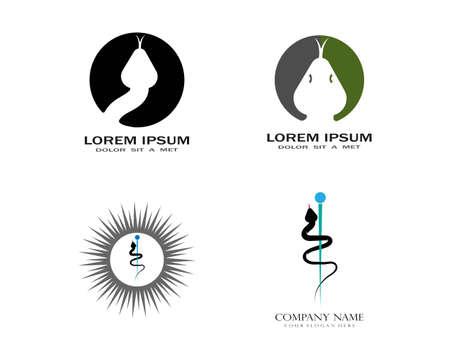 Snake logo vector template