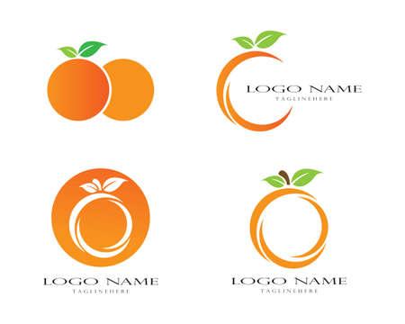 Orange logo design. Vector illustration Logo