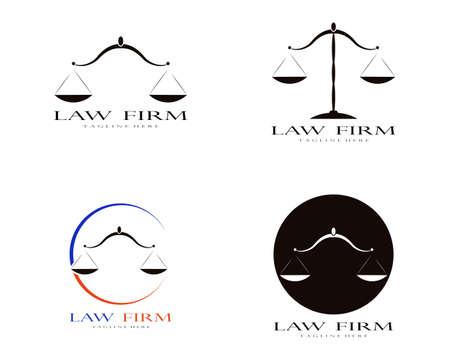 Law firm logo vector template 向量圖像