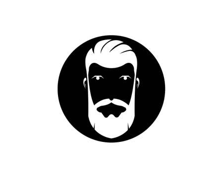 vintage barber shop vector icon template