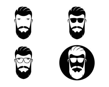vintage barber shop vector icon template Vektorové ilustrace