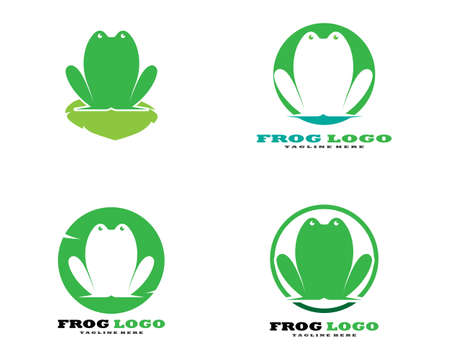 Frog Logo Template vector illustration