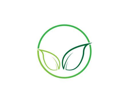 Tree leaf vector logo design, eco-friendly concept. Logo