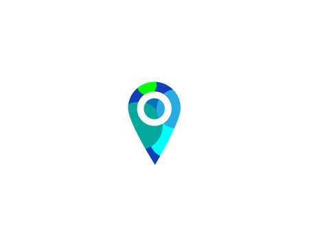 Location point Logo icon vector