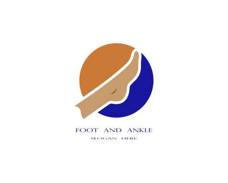 foot Logo Template Logo