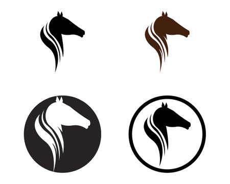 Horse  Template Vector illustration design Иллюстрация