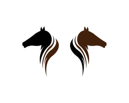 Horse  Template Vector illustration design Illustration