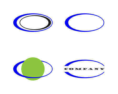 elips vector template icon illustration design