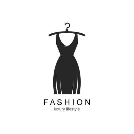 Clothes shop fashion  vector icon template