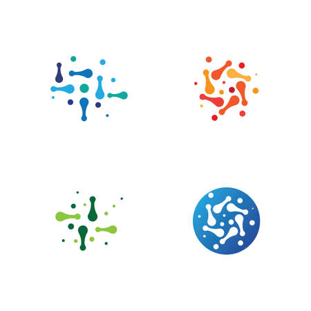 Molecule template vector icon