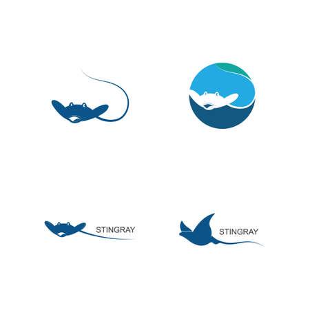 Stingray  ilustration vector flat design template