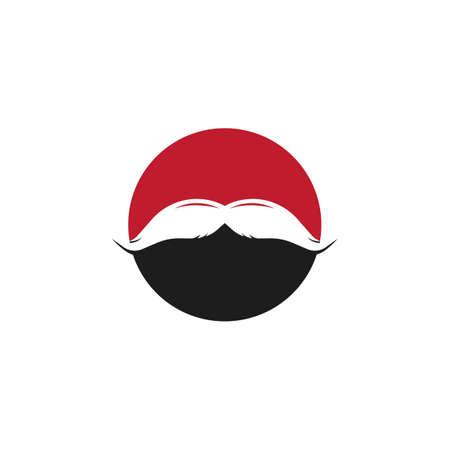 Mustache icon vector ilustration template Vectores