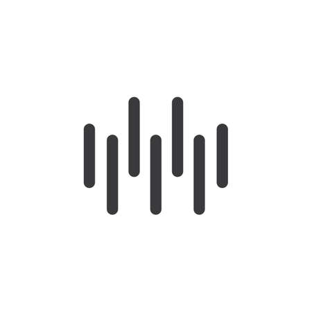 sound wave ilustration  vector icon template