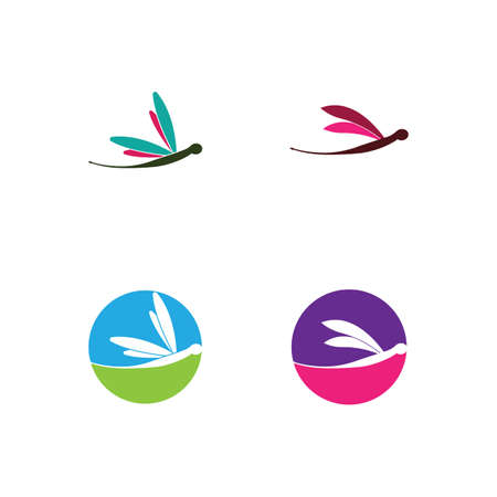 Dragonfly  template vector icon illustration design Ilustrace