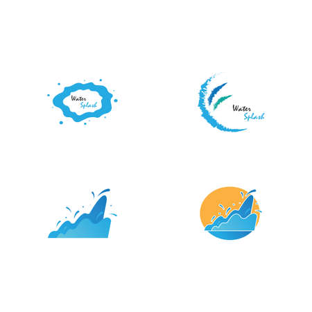 Illustration of Water Splash vector template