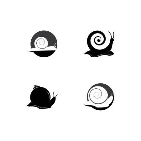 snail logo template vector icon illustration design Logo