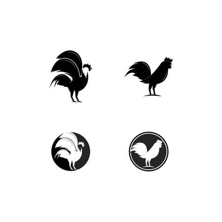 Rooster Logo Template vector illustration