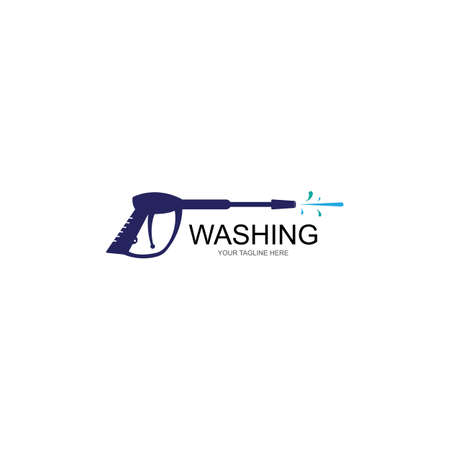 Pressure washing logo template. Cleaning vector design.