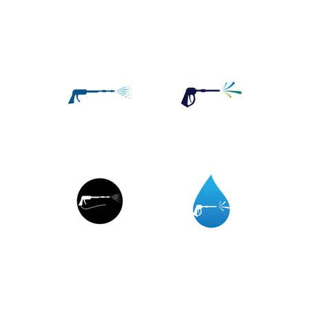 Pressure washing logo template. Cleaning vector design. Logos