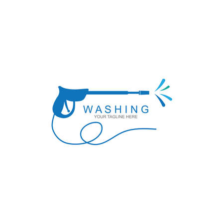 Pressure washing template. Cleaning vector design.
