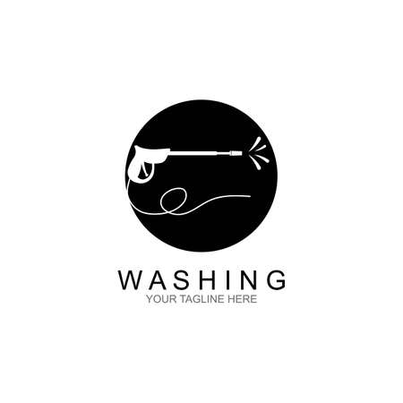Pressure washing  template. Cleaning vector design. Çizim
