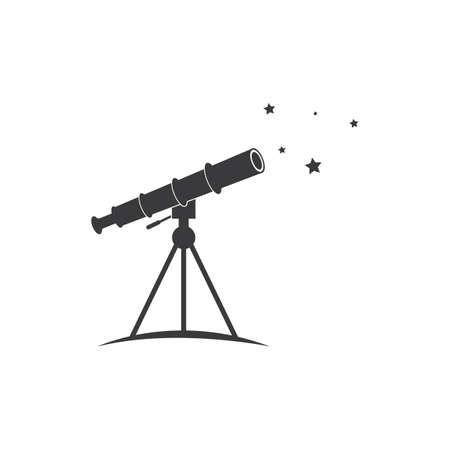Telescope logo icon vector flat design template 向量圖像
