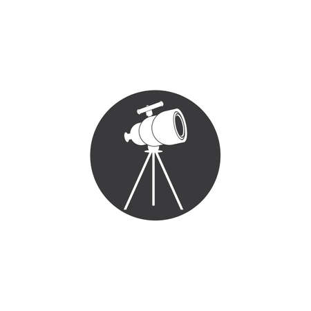 Telescope logo icon vector on white