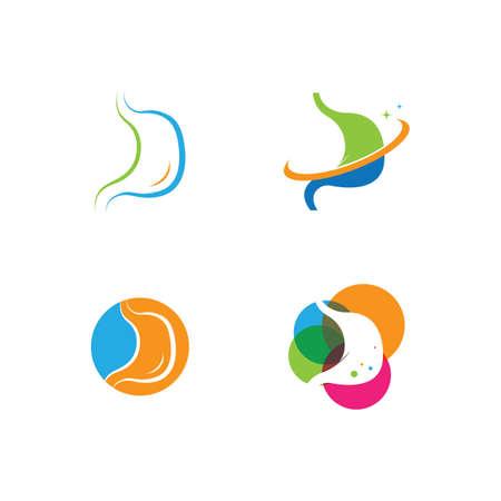 stomach care icon designs concept vector illustration Ilustración de vector