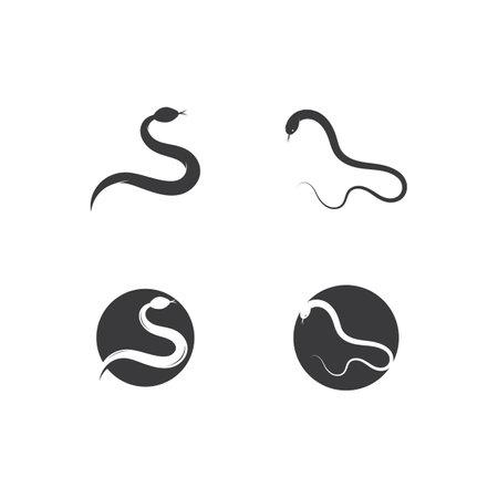 Snake vector icon template