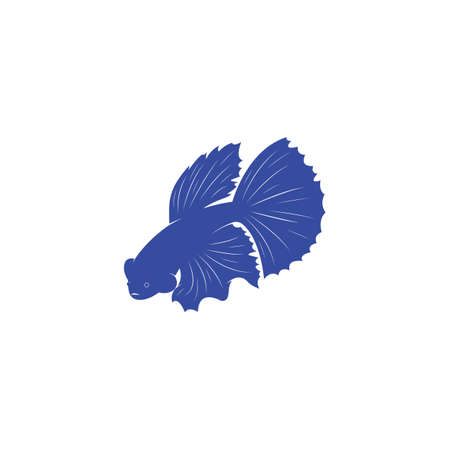 beautiful betta fish vector illustration