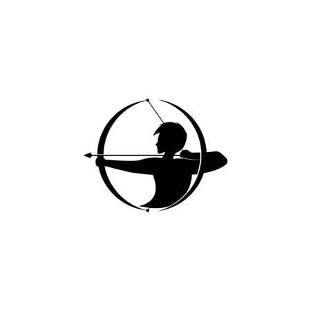 Arrow archery icon vector illustration Logo Template design
