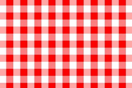 Patrón de cuadros rojos. Textura de rombos / cuadrados para: cuadros, manteles, ropa, camisas, vestidos, papel, ropa de cama, mantas, edredones y otros productos textiles. Ilustración de vector.