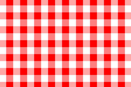 Red Gingham pattern. Texture from rhombussquares for - plaid, tablecloths, clothes, shirts, dresses, paper, bedding, blankets, quilts and other textile products. Vector illustration. Ilustracja