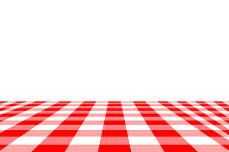 Red Gingham seamless pattern. Texture from rhombussquares for - plaid, tablecloths, clothes, shirts, dresses, paper, bedding, blankets, quilts and other textile products. Vector illustration. Ilustração