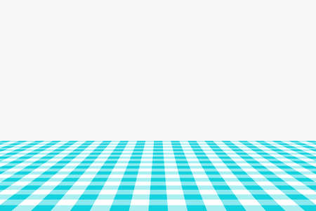Blue Gingham pattern. Texture from rhombus/squares for - plaid, tablecloths, clothes, shirts, dresses, paper, bedding, blankets, quilts and other textile products. Vector illustration. Banco de Imagens - 110244100