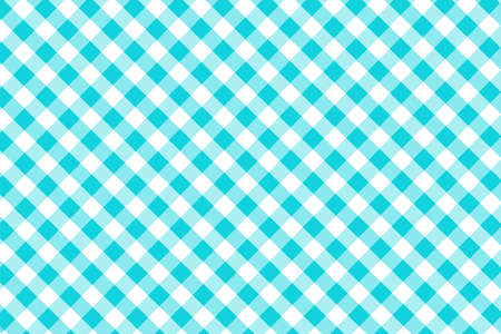 Blue Gingham pattern. Texture from rhombussquares for - plaid, tablecloths, clothes, shirts, dresses, paper, bedding, blankets, quilts and other textile products. Vector illustration.