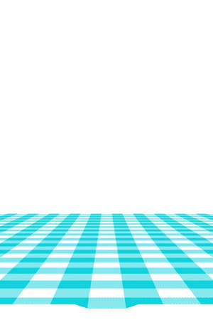 Blue Gingham pattern. Texture from rhombus/squares for - plaid, tablecloths, clothes, shirts, dresses, paper, bedding, blankets, quilts and other textile products. Vector illustration. Banco de Imagens - 110244106