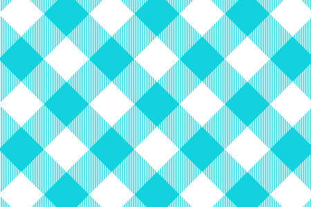 Blue Gingham pattern. Texture from rhombus/squares for - plaid, tablecloths, clothes, shirts, dresses, paper, bedding, blankets, quilts and other textile products. Vector illustration. Banco de Imagens - 110216834