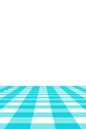 Blue Gingham pattern. Texture from rhombus/squares for - plaid, tablecloths, clothes, shirts, dresses, paper, bedding, blankets, quilts and other textile products. Vector illustration. Banco de Imagens - 110216842