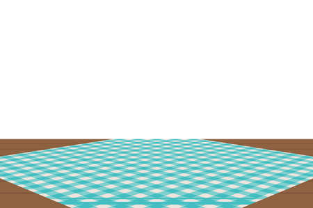 Blue Gingham pattern. Texture from rhombus/squares for - plaid, tablecloths, clothes, shirts, dresses, paper, bedding, blankets, quilts and other textile products. Vector illustration.