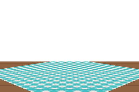 Motif vichy bleu. Texture de losange/carrés pour - plaid, nappes, vêtements, chemises, robes, papier, literie, couvertures, couettes et autres produits textiles. Illustration vectorielle.