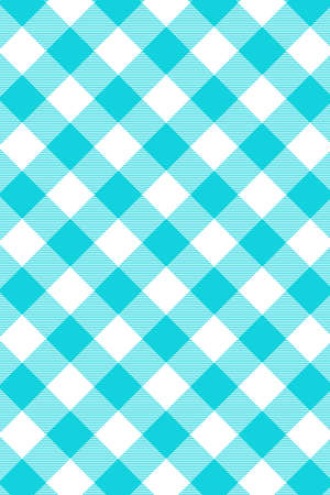 Blue Gingham pattern. Texture from rhombus/squares for - plaid, tablecloths, clothes, shirts, dresses, paper, bedding, blankets, quilts and other textile products. Vector illustration. Banco de Imagens - 110216849