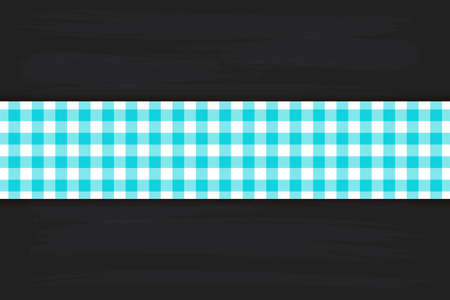 Blue Gingham pattern. Texture from rhombus/squares for - plaid, tablecloths, clothes, shirts, dresses, paper, bedding, blankets, quilts and other textile products. Vector illustration. Banco de Imagens - 110216873