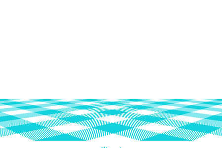 Blue Gingham pattern. Texture from rhombus/squares for - plaid, tablecloths, clothes, shirts, dresses, paper, bedding, blankets, quilts and other textile products. Vector illustration. Banco de Imagens - 110216878