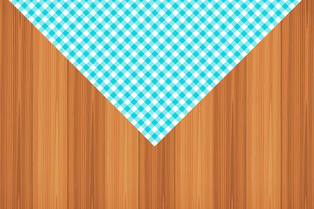 Blue Gingham pattern. Texture from rhombus/squares for - plaid, tablecloths, clothes, shirts, dresses, paper, bedding, blankets, quilts and other textile products. Vector illustration. Banco de Imagens - 110216890
