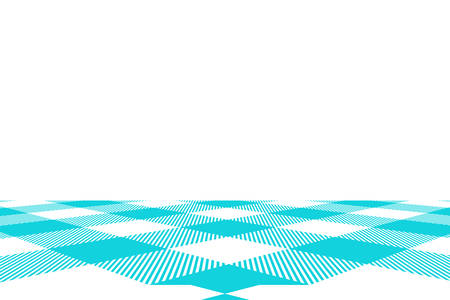 Blue Gingham pattern. Texture from rhombus/squares for - plaid, tablecloths, clothes, shirts, dresses, paper, bedding, blankets, quilts and other textile products. Vector illustration. Banco de Imagens - 110216895
