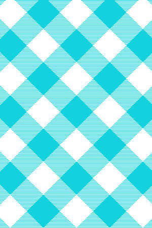 Blue Gingham pattern. Texture from rhombus/squares for - plaid, tablecloths, clothes, shirts, dresses, paper, bedding, blankets, quilts and other textile products. Vector illustration. Banco de Imagens - 110216898