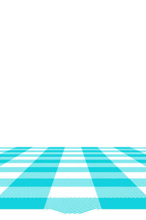 Blue Gingham pattern. Texture from rhombus/squares for - plaid, tablecloths, clothes, shirts, dresses, paper, bedding, blankets, quilts and other textile products. Vector illustration. Banco de Imagens - 110216901